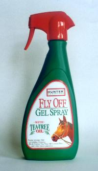 Spray to keep flies off horse