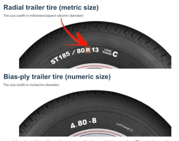 Different of Radil and bias-ply trailer tires