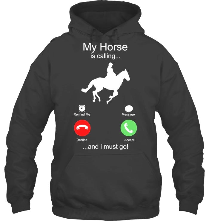 My Horse is Calling and I must go Hoodie